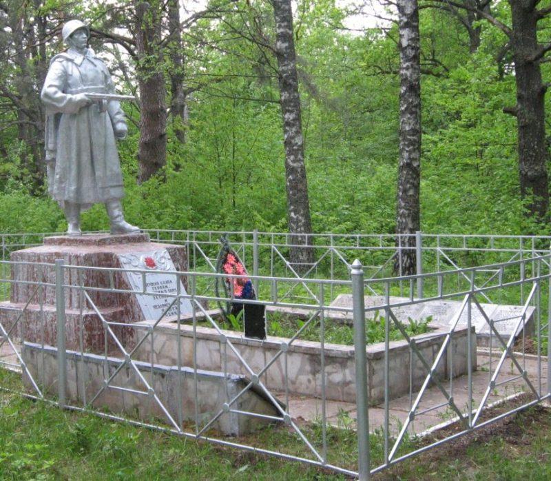 д. Емельянцево Опочецкого р-на. Памятник, установленный на братской могиле советских воинов.