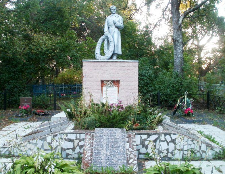 п. Красногородск. Братская могила на кладбище воинов, погибших в годы войны.