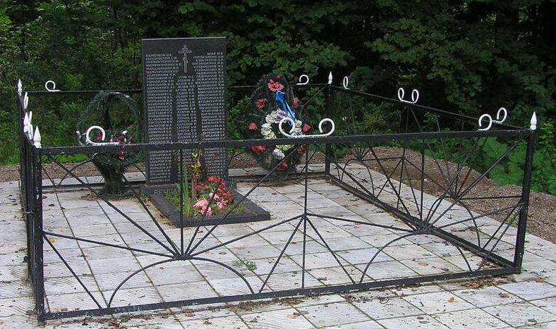 д. Мелетово Псковского р-на. Братская могила советских воинов.