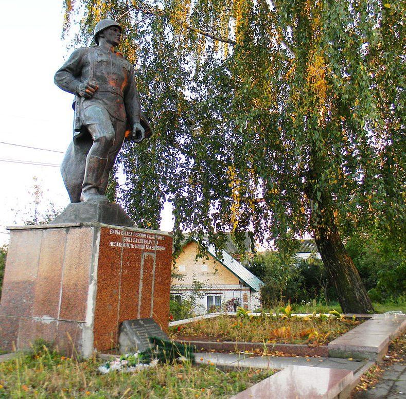 г. Житомир. Братская могила, в которой похоронено 22 советских воина.