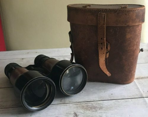 Бинокль армейский Dollond & Co с кожаным футляром.