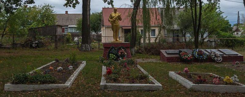 с. Заричаны Житомирского р-на. Братские могилы 51 советского воина.