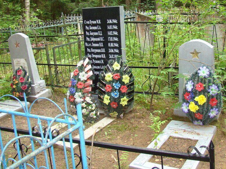 д. Сетино Псковского р-на. Братская могила советских граждан, казненных оккупантами.
