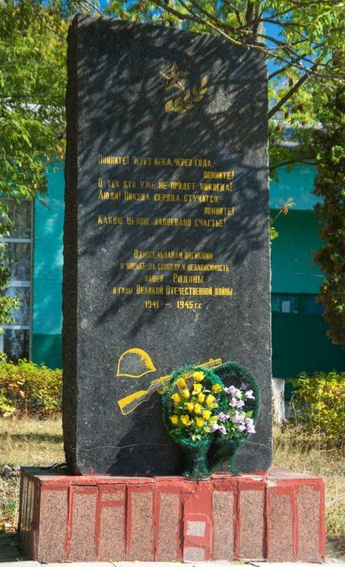 с. Каменка Житомирского р-на. Памятник воинам-односельчанам.