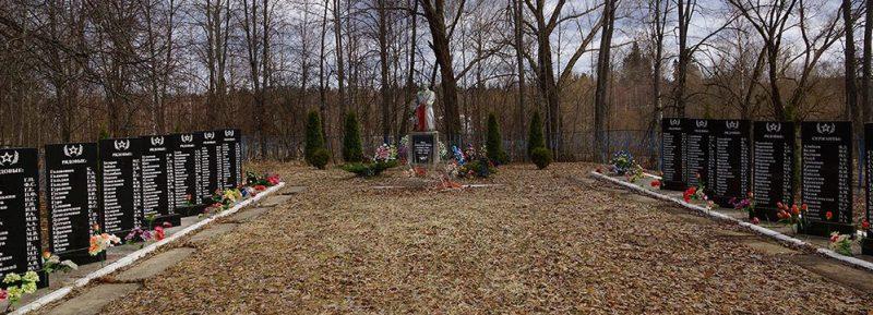 д. Назимово Куньинского р-на. Мемориал, установленный у братских могил советских воинов.