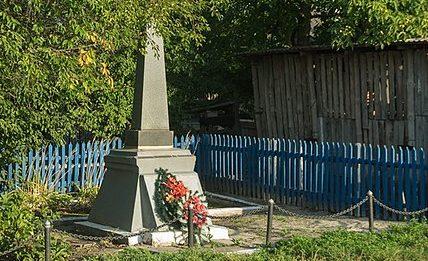 с. Сингуры Житомирского р-на. Братская могила, в которой похоронено 44 советских воинов.