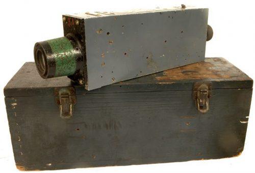 Фотопулемет G.45 с транспортным ящиком и кассетой.