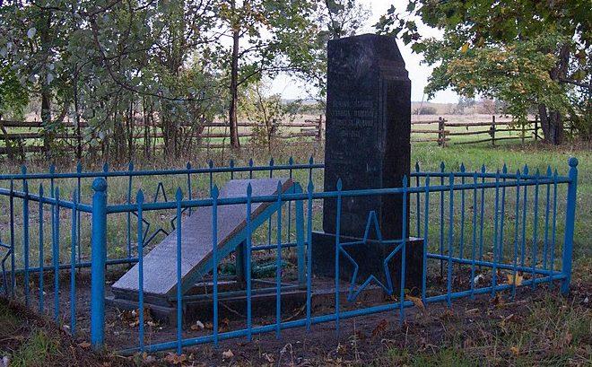 с. Березовый Дек Лугинского р-на. Братская могила 3 советских воинов.