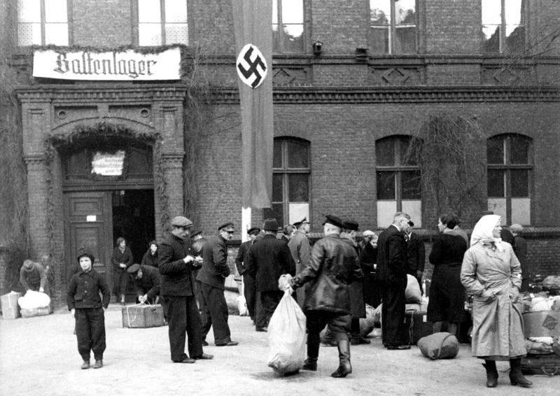 «Baltenlager» - пересыльный лагерь для балтийских немцев, Позен.