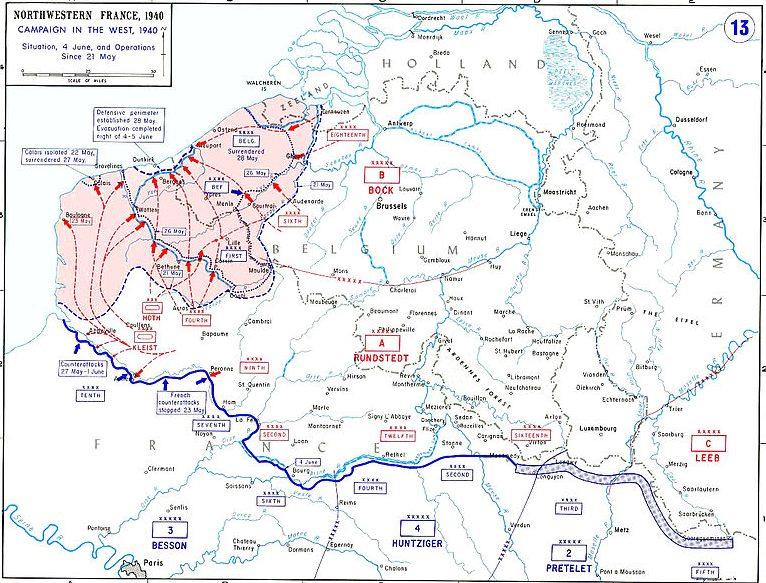 Карта-схема боевых действий у реки Лис.