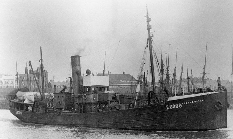 «Близнец» HMT John Quilliam патрульного корабля «А4».
