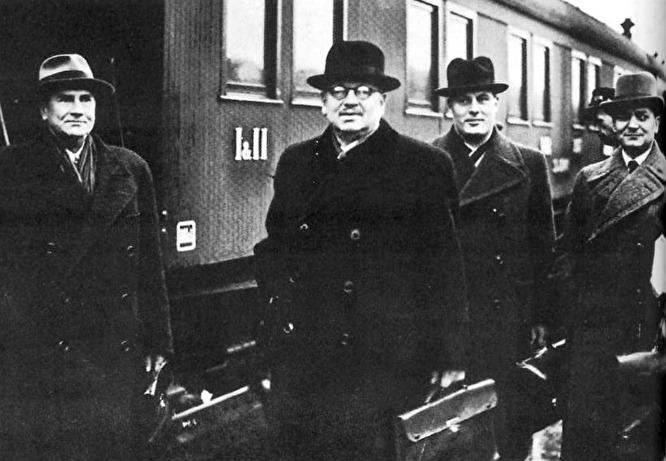 Делегация Финляндии на переговорах в Москве. 1939 год.