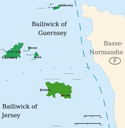 Нормандские острова на карте.