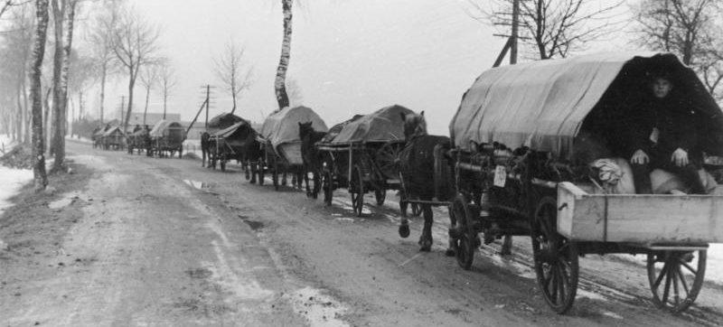 Переселенцы направляются в Восточную Пруссию.