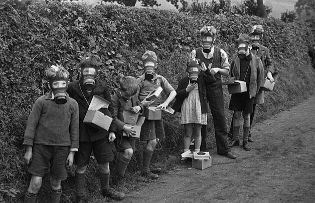 Эвакуированные дети в Монтгомеришире, 1939 год.