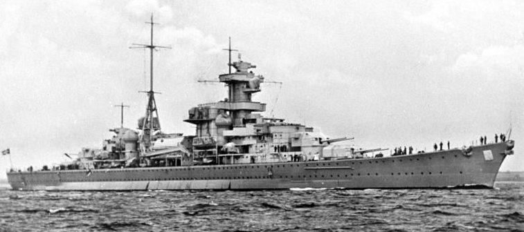 Крейсер «Блюхер».