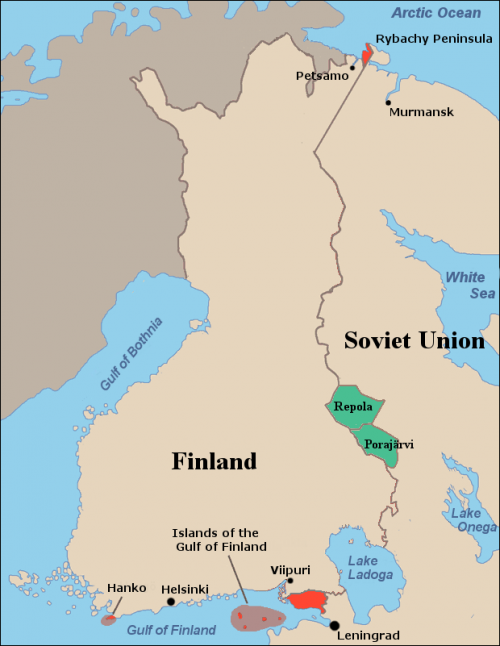 Советское предложение обмена территориями.