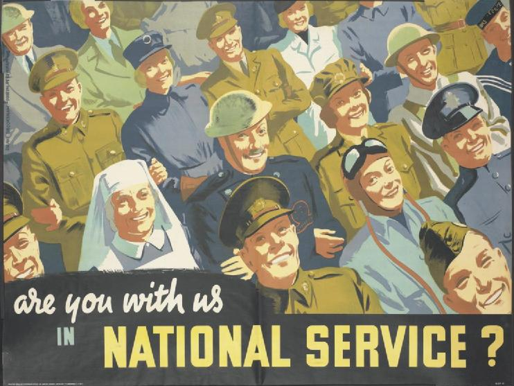 Агитационный плакат, призывающий в национальную службу.
