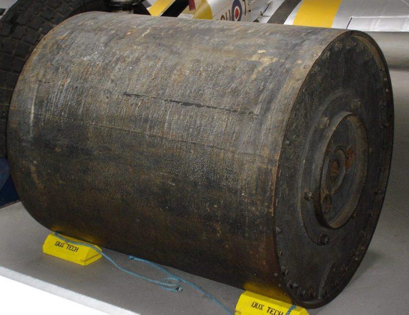 Макет «прыгающей» бомбы в военном музее Даксфорда.