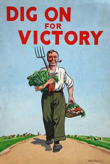 Плакат «Копай для Победы», побуждающий британцев заниматься огородничеством и садоводством.