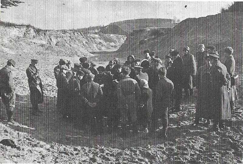 Бабий Яр, сразу после освобождения Киева в ноябре 1943 г.