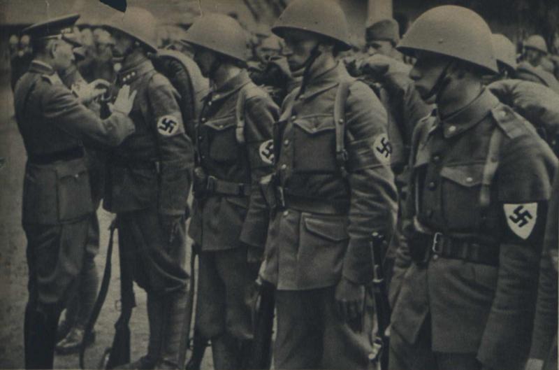 Награждение словацких военнослужащих, принимавших участие во вторжении в Польшу.