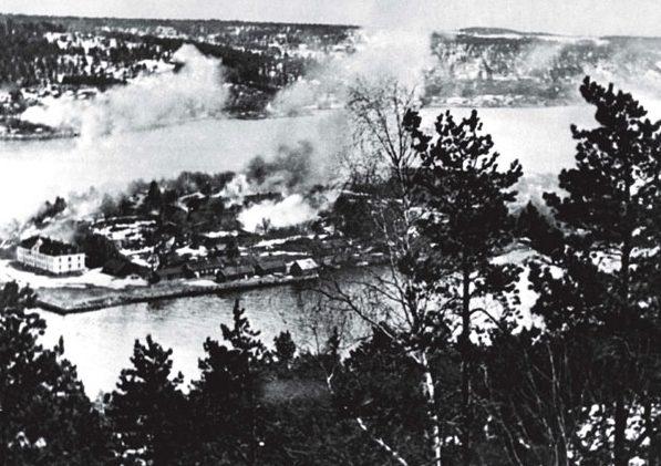 Бомбардировка крепости Оскарсборг.