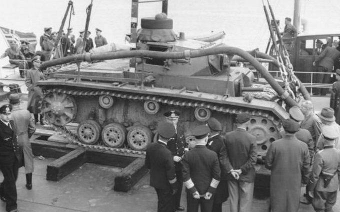 Подводные танки Tauchpanzer III».