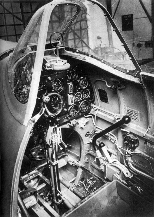 Кабина пилота истребителя «Спитфайр» Мк.I. 1940 г.