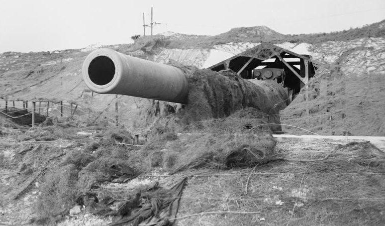 356-мм пушка «Винни», установленная близ Дувра.