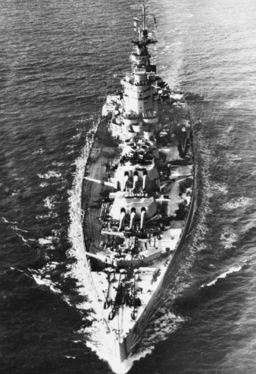Британский линкор «Нельсон». 1941 г.