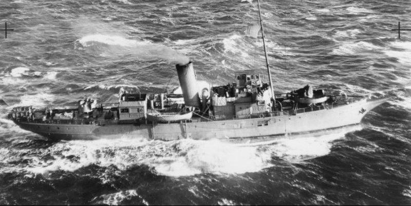 Противолодочная яхта «Валена». 1941 г.