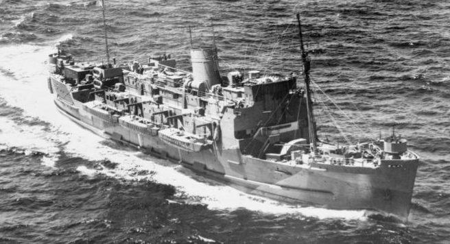Британский войсковой транспорт «Роял Алстемен». 1941 г.