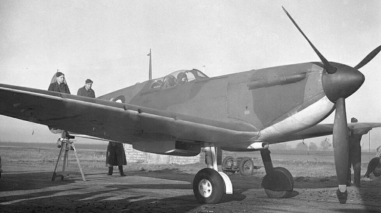 Пристрелка пулеметов истребителя «Спитфайр» Mk I. 1940 г.