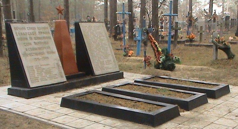 с. Украинка Малинского р-на. Братская могила советских воинов.
