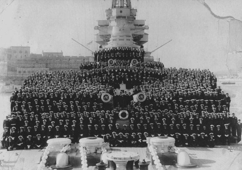 Команда линейного крейсера «Худ». 1941 г.