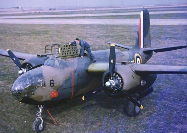 Бомбардировщик DB-7A «Бостон» на аэродроме Флойд Беннетт Филд на Лонг-Айленде. 1941 г.