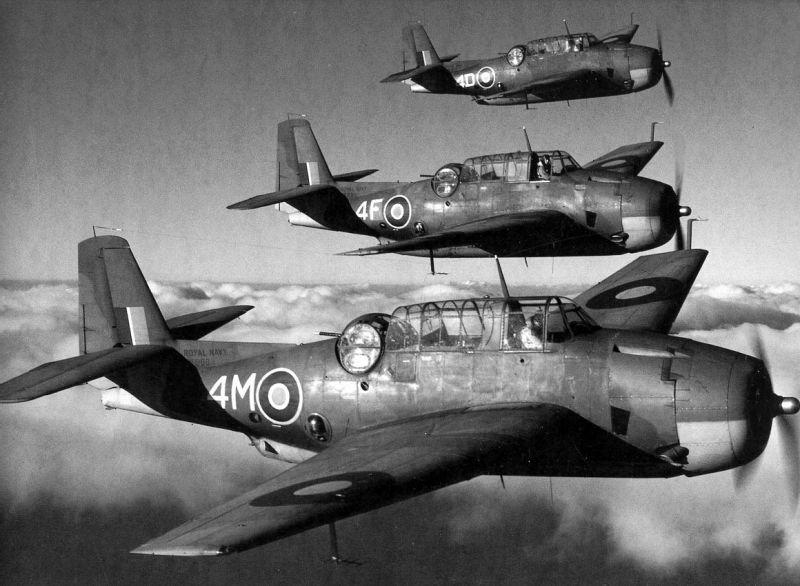 Бомбардировщики «Эвенджер» (в Великобритании обозначались Tarpon Mk. I). 1941 г.