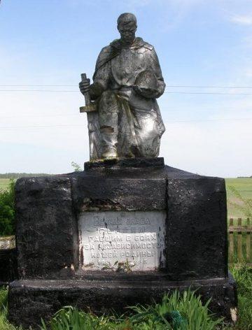 с. Кикова Новоград-Волынского р-на. Братская могила советских воинов, погибших в боях за село.