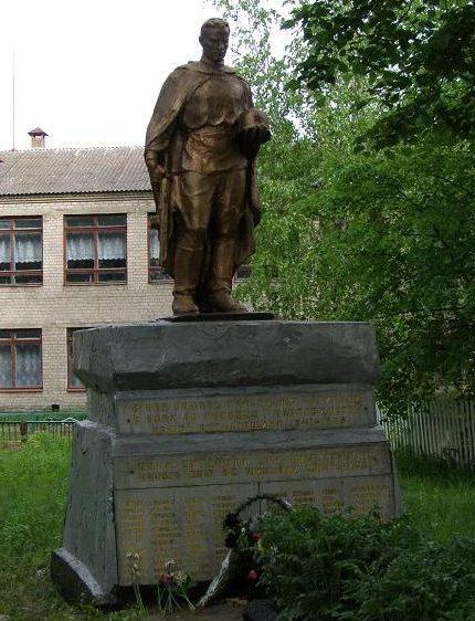 с. Киянка Новоград-Волынского р-на. Братская могила воинов, погибших в боях за село.