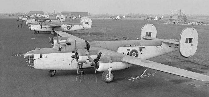 Патрульные самолеты «Либерейтор» GR Mk. III на авиабазе Олдергров. Апрель 1943 г.