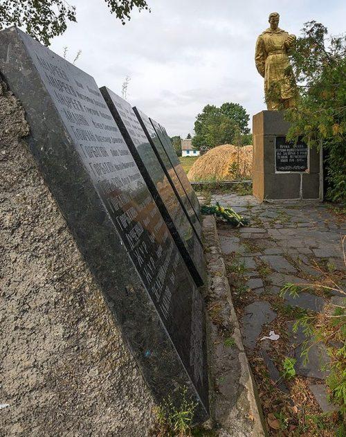 с. Стриева Новоград-Волынского р-на. Памятник погибшим односельчанам.