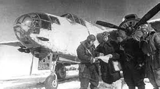 Американские самолеты в Якутске. 1942 г.