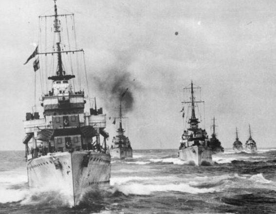 Корабли сопровождения арктического конвоя «Дервиш». 12 августа 1941 г.
