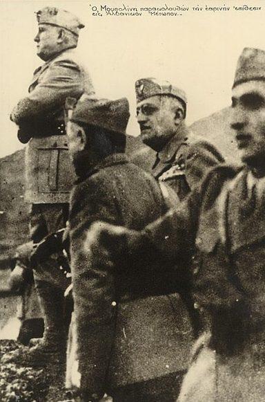Бенито Муссолини руководит наступлением.