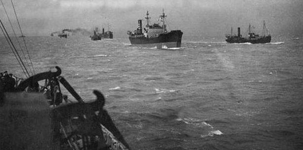 В Архангельск прибыли суда арктического конвоя «Дервиш». 31 августа 1941 г.