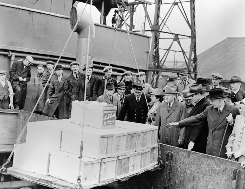Продукты, поставленные в Британию по Ленд-лизу. Сентябрь 1941 г.