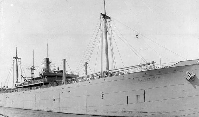 « El Capitan» - одно из грузовых судов конвоя PQ-3. Ноябрь 1941 г.