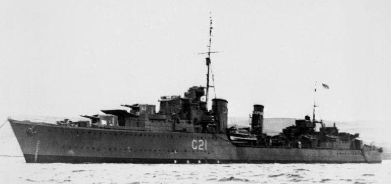 Эсминец «Punjabi» - один из кораблей группы прикрытия конвоя QP-15. Апрель 1942 г.