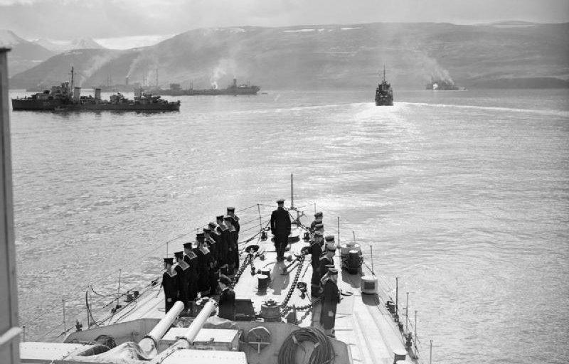 Корабли конвоя PQ-17 в Исландии. Июль 1942 г.